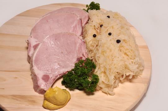 Rippchen, Haspel, Sauerkraut