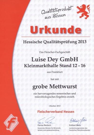 Auszeichnung Luise Dey GmbH