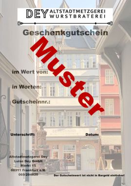 Gutschein Altstadt Frankfurt